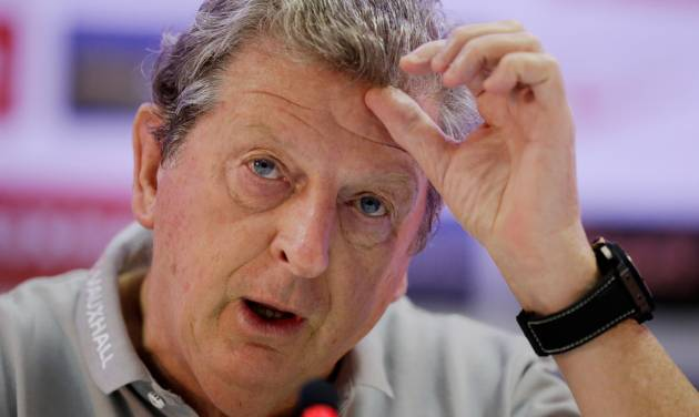 England national soccer team manager Roy Hodgson speaks during his press conference at the team's training facilities at the Urca military base in Rio de Janeiro, Brazil, Tuesday, June 10, 2014.  The England soccer team are staying in Rio de Janeiro as their base city for the 2014 soccer World Cup.  (AP Photo/Matt Dunham)