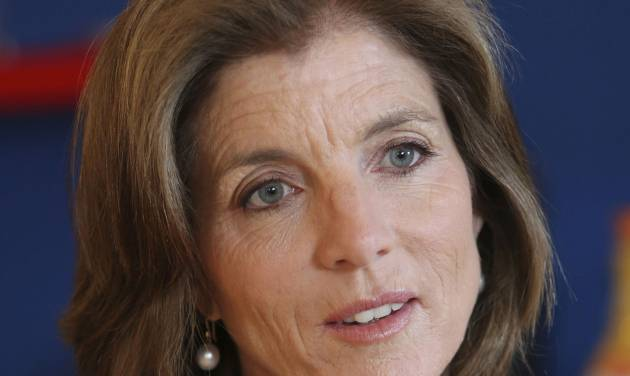 FILE - In this Tuesday, March 26, 2013 FILE photo, Caroline Kennedy speaks during an interview with The Associated Press in New York. AP sources say President Barack Obama is nominating Kennedy as ambassador to Japan. (AP Photo/Mary Altaffer, File)