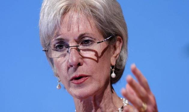 "FILE - In this May 15, 2012 file photo, Health and Human Services Secretary Kathleen Sebelius speaks in Bethesda, Md. Facing a wave of lawsuits over what government can tell religious groups to do, the Obama administration on Friday proposed a compromise for faith-based nonprofits that object to covering birth control in their employee health plans. Sebelius said in a statement that the compromise would provide ""women across the nation with coverage of recommended preventive care at no cost, while respecting religious concerns."" (AP Photo/Jose Luis Magana, File)"