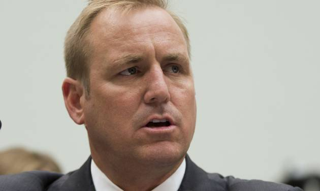 FILE - This July 23, 2013 file photo shows Rep. Jeff Denham, R-Calif. on Capitol Hill in Washington. House Republicans are pushing a plan to give young immigrants brought to the country illegally by their parents a path to resident status if they join the U.S. military. Denham said Friday he would press for a vote on his legislation either as a free-standing bill or as an addition to the defense authorization measure that the House will consider in May. Denham immediately faced conservative opposition. Rep. Mo Brooks of Alabama circulated a letter among his colleagues opposing any attempt to add immigration legislation to the defense bill. His intent was to collect as many signatures as possible and deliver the letter to House leadership. (AP Photo/Evan Vucci, File)