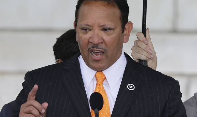 """FILE - This Aug. 28, 2013 file photo shows National Urban League President Marc Morial speaking at the Let Freedom Ring ceremony at the Lincoln Memorial in Washington, to commemorate the 50th anniversary of the 1963 March on Washington for Jobs and Freedom. While unemployment has been a major impediment to African Americans' economic progress, underemployment is a bigger obstacle for them than it is for whites or Hispanics, the National Urban League says in its latest State of Black America report. The annual report, called """"One Nation Underemployed: Jobs Rebuild America,"""" noted that African Americans are twice as likely as whites to be unemployed. The unemployment rate for blacks was 12 percent in February, compared to 5.8 percent for whites.  (AP Photo/Carolyn Kaster, File)"""
