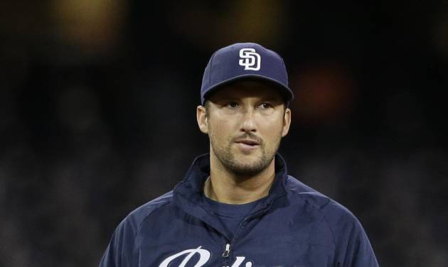 San Diego Padres closing pitcher Huston Street walks out of the bullpen after the Padres' 5-4 loss to the New York Mets in a baseball game Friday, July 18, 2014, in San Diego. Street did not pitch in the game (AP Photo/Gregory Bull)