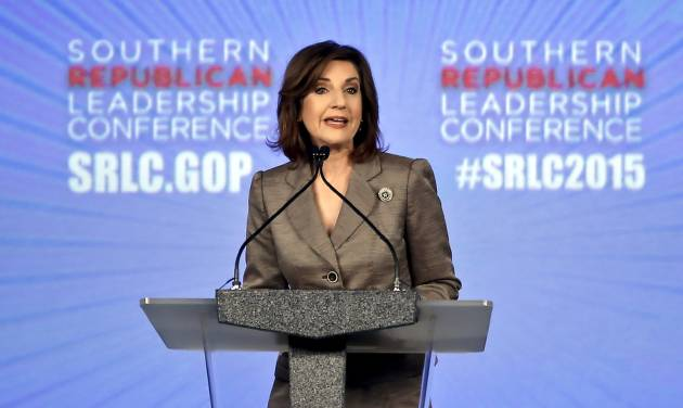 Oklahoma school superintendent Joy Hofmeister speaks during the first day of the Southern Republican Leadership Conference at the Cox Convention Center in Oklahoma City, Okla. on Thursday, May 21, 2015. Photo by Chris Landsberger, The Oklahoman