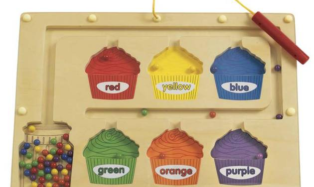 This undated photo provided by the U.S. Consumer Product Safety Commission shows a magnetic color sorting board from Discount School Supply.  The item is being recalled due to magnet ingestion risk and excessive lead levels. (AP Photo/U.S. Consumer Product Safety Commission)