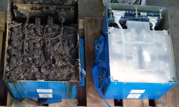 FILE - In this Thursday, Jan. 17, 2013 photo provided by the Japan Transport Safety Board shows the distorted main lithium-ion battery, left, and an undamaged auxiliary battery of the All Nippon Airways' Boeing 787 which made an emergency landing on Wednesday, Jan. 16, 2013 at Takamatsu airport in Takamatsu, western Japan. Japan's All Nippon Airways said Wednesday, Jan. 30, 2013 it replaced lithium-ion batteries on its 787 Dreamliners 10 times before a battery overheating incident led to the worldwide grounding of the jets. Boeing was informed, but the airline was not required to report the battery swapping cases to Japan's Transport Ministry because they did not raise safety concerns and did not interfere with flights. (AP Photo/Japan Transport Safety Board, File) EDITORIAL USE ONLY, NO SALES