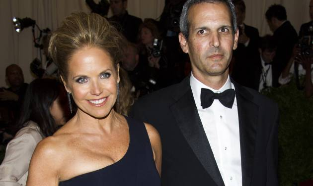 """FILE - In this May 6, 2013, file photo, TV personality Katie Couric, left, and John Molner attend The Metropolitan Museum of Art's Costume Institute benefit celebrating """"PUNK: Chaos to Couture"""" in New York. Couric has married Molner in a small ceremony at her East Hampton home. People magazine reports the former """"Today"""" host and Molner took the vows on Saturday, June 21, 2014, in front of 50 guests. (Photo by Charles Sykes/Invision/AP, File)"""