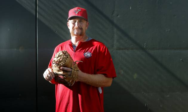 Oklahoma City's bullpen catcher/instructor Jeff Murphy poses for a picture at the in Oklahoma City, Thursday, Aug. 7, 2014. Photo by Sarah Phipps, The Oklahoman