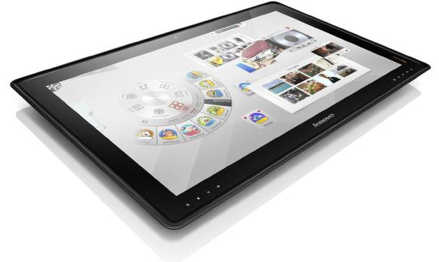 "An image provided by Lenoovo shows  the IdeaCentre Horizon Table PC that they say is the first ""interpersonal computer."" It is a PC the size of a coffee table that works like a gigantic tablet and lets four people use it at once.  (AP Photo/Lenovo)"