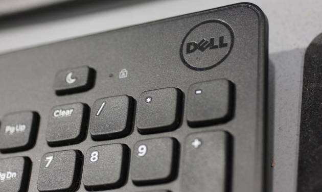 FILE - In this Monday, Aug. 20, 2012, file photo, a Dell keyboard is shown at a Best Buy store in Mountain View, Calif. CNBC and The Wall Street Journal are reporting on Tuesday, Jan. 22, 2013, that the discussions to buy struggling computer maker Dell now include Microsoft as a potential investor. )AP Photo/Paul Sakuma, File)