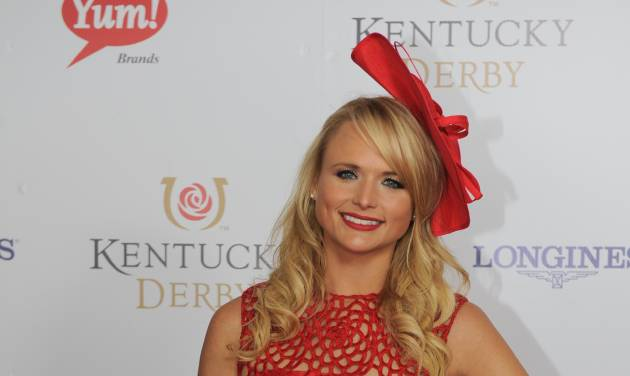 Miranda Lambert is photographed at the 140th Kentucky Derby Saturday, May 3, 2014 in Louisville Ky. (Photo by Joe Imel/Invision/AP)