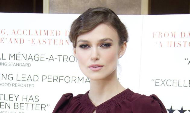 "FILE - In this Jan. 31, 2012 file photo, actress Keira Knightley arrives for the Gala Premiere of A Dangerous Method at the May Fair Hotel, in London. Knightley, the glamorous star of ""Pirates of the Caribbean,"" is engaged to marry musician James Righton, her publicist said Friday. (AP Photo/Joel Ryan, file)"