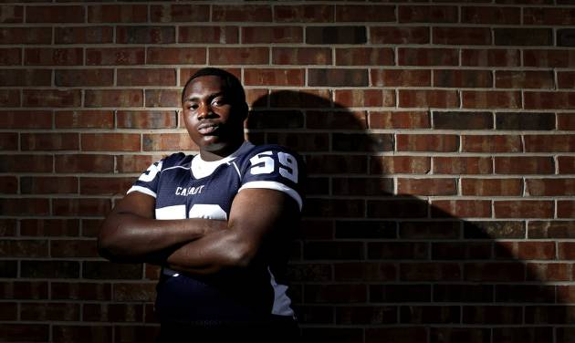 HIGH SCHOOL FOOTBALL: Casady football player Josh Wariboko-Alali poses for a photo at Casady High School in Oklahoma City, Tuesday, May 15, 2013. Photo by Bryan Terry, The Oklahoman