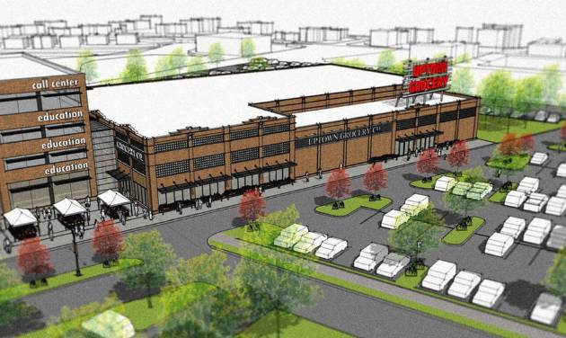 King's Crossing, NE 23 and Martin Luther King Ave., will be anchored by an Uptown Market, with other tenants to include a medical complex and an education component. Drawing provided