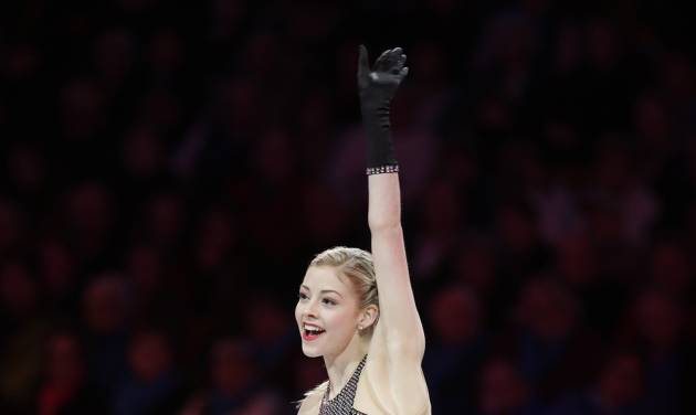 FILE - In this Jan. 12, 2014, file photo, Gracie Gold performs during a skating spectacular following the U.S. Figure Skating Championships in Boston. The big names in women's figure skating at the Sochi Olympics are Yuna Kim and Mao Asada. The best name might belong to the American champion, Gracie Gold. It certainly will be the most memorable if she can match her moniker by standing atop the podium in a few weeks. (AP Photo/Steven Senne, File)