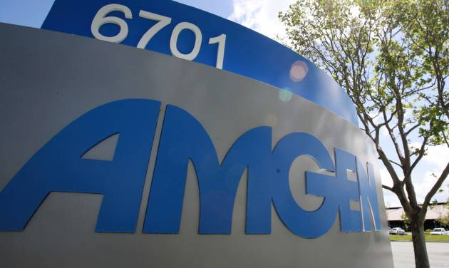 FILE - This April 20, 2010 file photo, shows the exterior view of Amgen Inc. in Fremont, Calif. Amgen reports quarterly earnings on Tuesday, April 22, 2014. (AP Photo/Paul Sakuma, File)