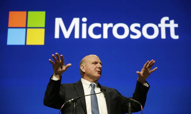 FILE - This file photo taken Nov. 19, 2013, shows then Microsoft CEO Steve Ballmer during the company's annual shareholders meeting in Bellevue, Wash. An individual with knowledge of negotiations to sell the Los Angeles Clippers said Shelly Sterling has reached an agreement to sell the team to Ballmer for $2 billion. The individual, who wasn't authorized to speak publicly, told The Associated Press on Thursday, May 29, 2014, that Ballmer and the Sterling Family Trust now have a binding agreement. The deal now must be presented to the NBA. Ballmer beat out bids by Guggenheim Partners and a group including former NBA All-Star Grant Hill. (AP Photo/Elaine Thompson, File)