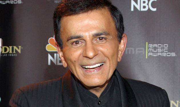 "FILE - In this Oct. 27, 2003 file photo, Casey Kasem poses for photographers after receiving the Radio Icon award during The 2003 Radio Music Awards at the Aladdin Resort and Casino in Las Vegas. A judge in Washington state has granted Kasem's daughter a temporary restraining order preventing the famous radio host's wife from cremating or removing his remains from a funeral home. Kasem, the radio host of ""American Top 40"" and voice of animated television characters like Scooby-Doo's sidekick Shaggy, died June 15, 2014, at a hospital in Gig Harbor, Wash.  (AP Photo/Eric Jamison, File)"