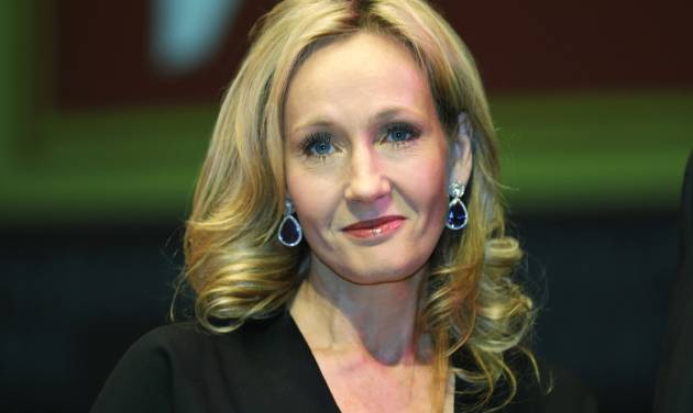 "FILE - in this file photo dated Thursday, Sept. 27, 2012 British author J.K. Rowling poses for photographers at the Southbank Centre in London. J.K. Rowling is back with a novel involving a writer whose acid-tipped pen may have led to murder. Publisher Little, Brown said Monday that it will publish a second book by Robert Galbraith, the ""Harry Potter"" author's thriller-writing pseudonym.  (AP Photo/Lefteris Pitarakis, FILE)"