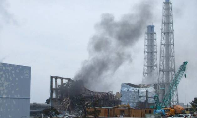 FILE - In this March 21, 2011 file photo provided by Tokyo Electric Power Co. (TEPCO), smoke rises from the Unit 3 reactor of the tsunami-damaged Fukushima Dai-ichi nuclear plant in Okuma town, Fukushima prefecture, northeastern Japan. The U.S. government has intensified research on more durable fuel in the aftermath on the accident in Japan. (AP Photo/Tokyo Electric Power Co., File) EDITORIAL USE ONLY