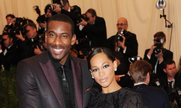 """Amar'e Stoudemire and his wife Alexis attend The Metropolitan Museum of Art's Costume Institute benefit celebrating """"PUNK: Chaos to Couture"""" on Monday, May 6, 2013, in New York. (Photo by Evan Agostini/Invision/AP)"""