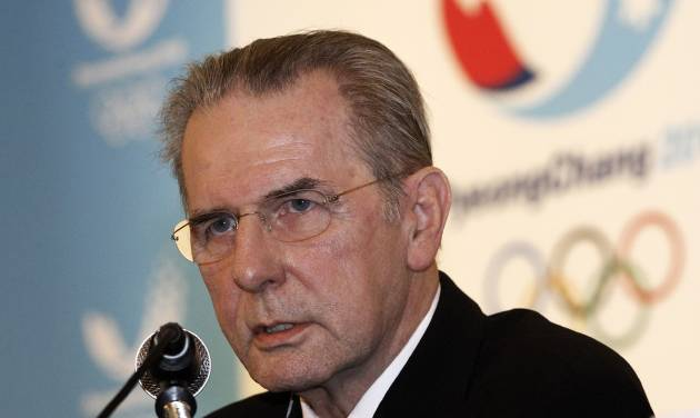 International Olympic Committee (IOC) President Jacques Rogge speaks during a press conference in Seoul, South Korea, Friday, Feb. 1, 2013. Rogge arrived in South Korea on Wednesday for a four-day visit to inspect ongoing preparations for the 2018 Pyeong Chang Olympic Winter Games in the South Korean alpine city. (AP Photo/Ahn Young-joon)