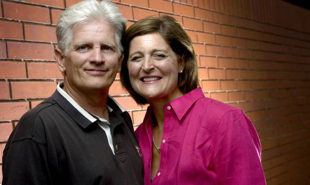 Altus Athletic Director Rick Roop poses for a photo with his wife Vickie Roop in Oklahoma City, Thursday, July 10, 2008. BY BRYAN TERRY, THE OKLAHOMAN ORG XMIT: KOD