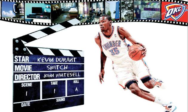 """Kevin Durant is starring in the movie """"Switch."""" Illustration by Phillip Baeza, The Oklahoman"""