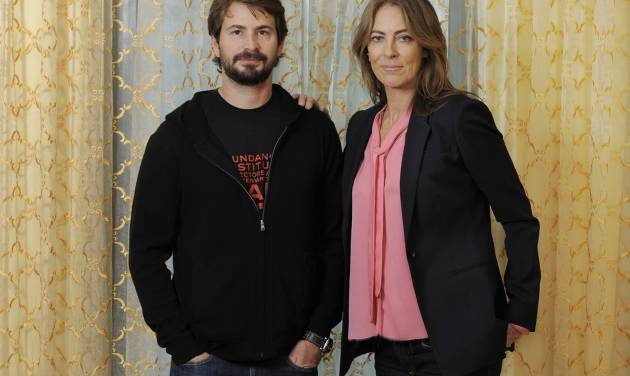 "Mark Boal, left, screenwriter and co-producer of the film ""Zero Dark Thirty,"" and the film's director and co-producer Kathryn Bigelow pose together for a portrait at the Beverly Wilshire Hotel on Monday, Dec. 10, 2012, in Beverly Hills, Calif. ""Zero Dark Thirty,"" which introduces itself as ""based on first-hand accounts of actual events,"" is new kind of timely fusing of filmmaking and journalism, what Bigelow calls ""an imagistic version of living history."" (Photo by Chris Pizzello/Invision/AP)"