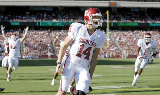 Quarterback Sam Bradford and the OU offense are averaging 62 points over the last three games.Photo BY BRYAN TERRY, THE OKLAHOMAN