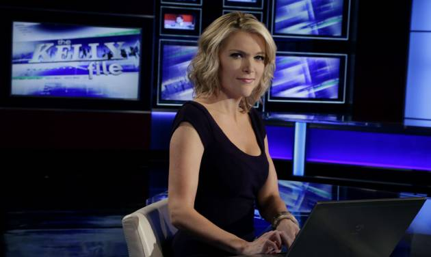 """Megyn Kelly, host of Fox News Channel's """"The Kelly Files,""""  poses for a photo as she rehearses for the debut of her new prime-time show, in New York, Friday, Oct. 4, 2013. Her program is the linchpin to the first overhaul of Fox's prime-time lineup since 2002, or about a century in television time. (AP Photo/Richard Drew)"""