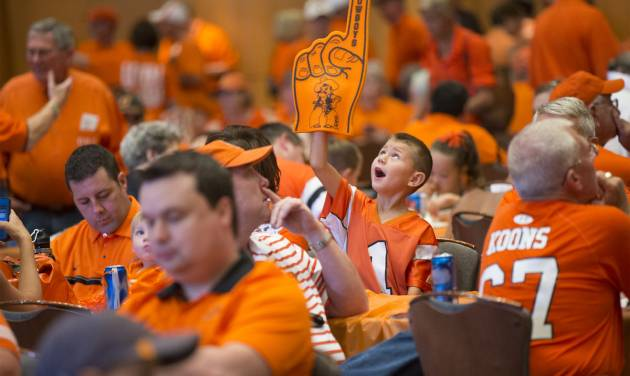 Even young Cowboys know OSU is No. 1. (Photo by Phil Shockley/University Marketing)