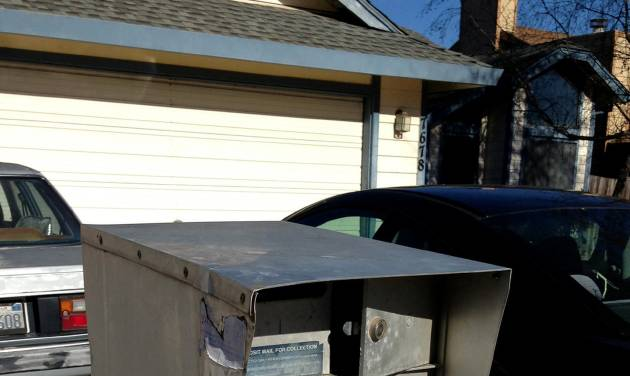 In this Jan. 19, 2013 photo are postal boxes that have been broken into in Sacramento, Calif.  A surge in thefts from mailboxes across the Central Valley last year sparked a federal crackdown that has led to charges against 27 people, federal  authorities announced,  Wednesday, Jan. 15, 2014.   More than a dozen investigators  were brought in from around the country to track the thieves that have been charged with crimes related to the break-in of mailboxes in post offices lobbies, neighborhood mailboxes, postal trucks and the counterfeiting of postal keys.(AP Photo/Tom Verdin)