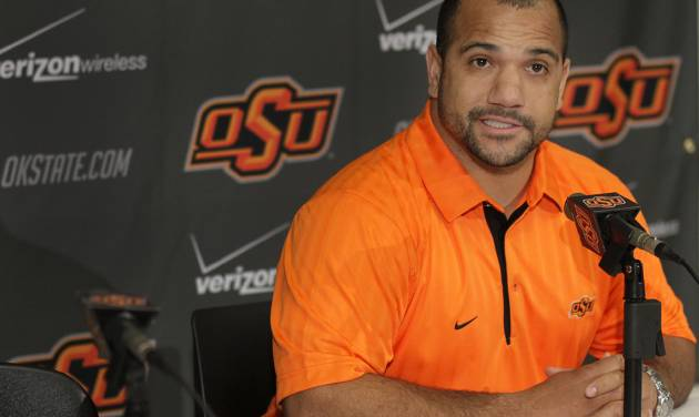 Oklahoma State running backs coach Jemal Singleton comes to Stillwater after five seasons at Air Force.  Photo by Chris Landsberger, The Oklahoman