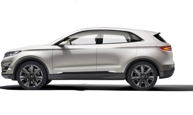 This product image provided by Ford shows the Lincoln MKC Concept revealed Sunday, Jan. 13, 2013. The Lincoln MKC Concept is Lincoln's attempt to enter the industry's fastest-growing segment: small luxury utility. (AP Photo/Ford)
