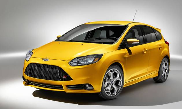 This undated image provided by Ford shows the 2014 Ford Focus ST hatchback. (AP Photo/Ford Motor Company)