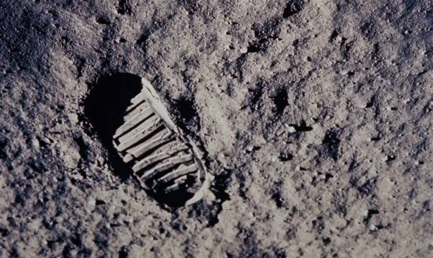 "FILE - In this July 20, 1969 file photo provided by NASA, a footprint left by one of  the astronauts of the Apollo 11 mission shows in the soft, powder surface of the moon. Commander Neil Armstrong and Edwin ""Buzz"" Aldrin became the first men to walk on the moon after blastoff from Cape Kennedy, Fla., on July 16, 1969. (AP Photo/NASA, File)"