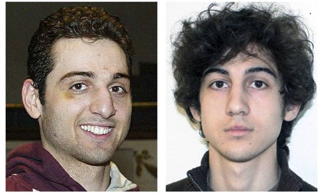 "FILE - This combination of file photos shows brothers Tamerlan, left, and Dzhokhar Tsarnaev, suspects in the Boston Marathon bombings on April 15, 2013. Tamerlan Tsarnaev died after a gunfight with police several days later, and Dzhokhar Tsarnaev, was captured and is held in a federal prison on charges of using a weapon of mass destruction. The FBI has denied a claim made by lawyers for Boston Marathon bombing suspect Dzhokhar Tsarnaev that his brother and fellow suspect was asked by the FBI to be an informant. The Boston FBI office declined to comment on claims made in a court filing Friday, March 28, 2014. But the agency cited a statement it released in October in which it said the Tsarnaev brothers were never sources for the FBI, ""nor did the FBI attempt to recruit them as sources."" (AP Photos/Lowell Sun and FBI, File)"