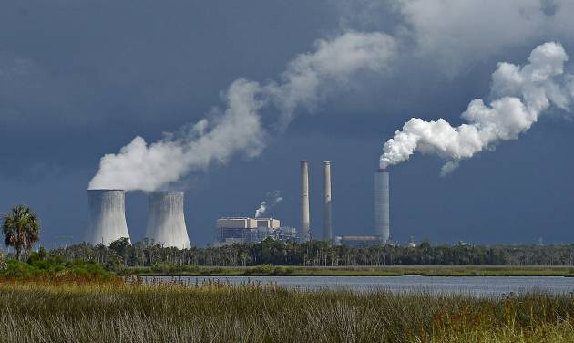 FILE - This June 27, 2013 file photo shows Duke Energy's Crystal River nuclear power plant in Citrus County, Fla. Duke Energy reports quarterly earnings on Wednesday, May 7, 2014.  (AP Photo/Phil Sandlin, File)