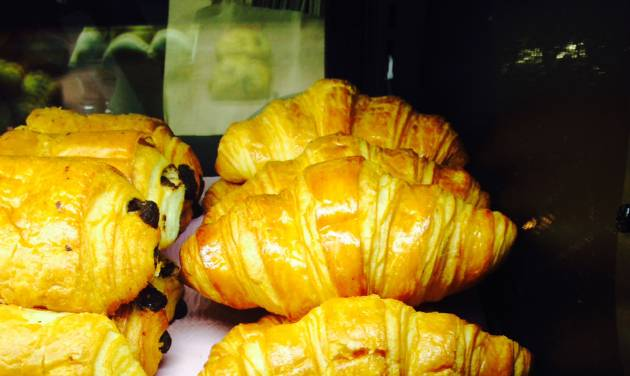 In this photo croissants are shown in a Starbucks in New York, on Friday, Jan. 24, 2014. Starbucks' chief financial officer Troy Alstead said croissant sales have doubled wherever the new recipes have been introduced. (AP Photo/Candice Choi)