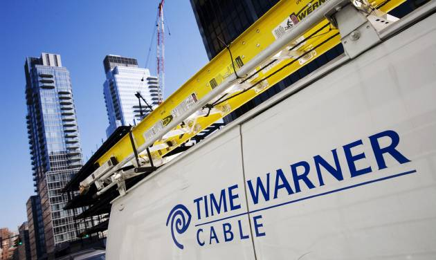 FILE - In this Feb. 2, 2009, file photo, a Time Warner Cable truck is parked in New York. Time Warner Cable says a problem that occurred during routine maintenance caused a nationwide outage of its Internet service for hours, early Wednesday, Aug. 27, 2014. (AP Photo/Mark Lennihan, File)