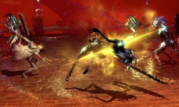 "This video game image released by Capcom shows a scene from ""DmC: Devil May Cry."" (AP Photo/Capcom)"