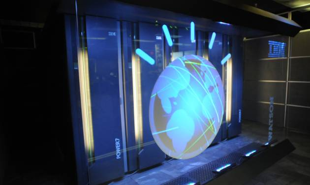 FILE- This Jan. 13, 2011 file photo provided by IBM shows the IBM computer system known as Watson. IBM announced Thursday, Jan. 9, 2014  that it's investing over $1 billion to give its Watson cloud computing system its own business division and a new home in the heart of New York City. (AP Photo/IBM, File)