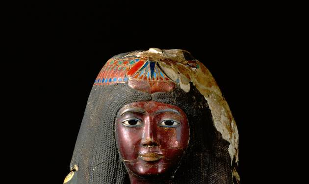FILE - In this April 22, 2011 photo provided by the St. Louis Art Museum is the funeral mask of Lady Ka-Nefer-Nefer that has been at the center of a custody battle for several years. Officials said Tuesday, July 29, 2014, they will take no further legal action to reclaim the 3,200-year-old mummy mask for Egypt. It will stay at the St. Louis Art Museum. (AP Photo/St. Louis Art Museum, File)