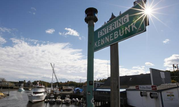 A sign is seen near a marina in Kennebunk, Maine, Friday, Oct. 12, 2012. Curious residents in this seaside community may have to wait to learn which of their friends and neighbors stand accused of giving business to a fitness instructor charged with running a prostitution operation out of her Zumba studio. The police department's plan to release some of the more than 150 names of suspected clients was delayed Friday by last-minute legal wrangling. Alexis Wright, a 29-year-old fitness instructor from Wells, Maine, has pleaded not guilty to prostitution, invasion of privacy and other charges for allegedly accepting money for sex and secretly videotaping her encounters. Her business partner, Mark Strong Sr., a 57-year-old insurance agent and private investigator from Thomaston, Maine, pleaded not guilty to 59 misdemeanor charges.(AP Photo/Robert F. Bukaty)