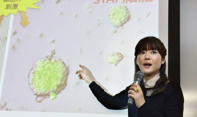 "FILE - In this Jan. 28, 2014 file photo, researcher Haruko Obokata, the lead author of a widely heralded stem-cell research paper by the Japanese government-funded laboratory Riken Center for Development Biology, speaks about research results during a news conference in Kobe, western Japan. The scientists who reported in January that they'd found a startlingly simple way to make stem cells have withdrawn that claim, following accusations of falsified data. On Wednesday, July 2, 2014, the journal Nature released a statement from the scientists who acknowledged ""extensive"" errors and said they couldn't say ""without a doubt"" that their method works. (AP Photo/Kyodo News) JAPAN OUT, MANDATORY CREDIT: KYODO NEWS"
