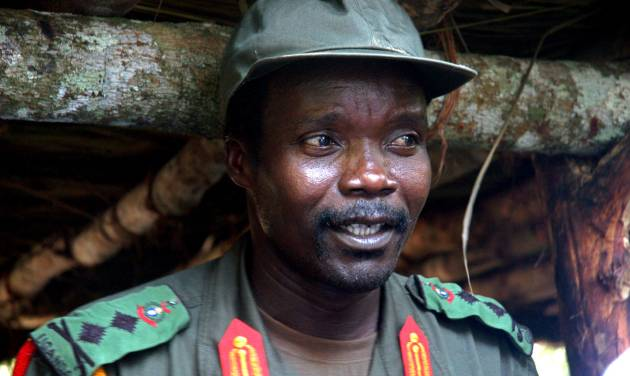 FILE - This July 31, 2006 file photo shows Joseph Kony, leader of the Lord's Resistance Army, during a meeting with a delegation of 160 officials and lawmakers from northern Uganda and representatives of non-governmental organizations in Congo near the Sudan border. On Thursday, April 5, 2012, San Diego-based Invisible Children, the California group that produced the wildly popular video that turned Kony into a household name, posted a sequal on the Internet, Kony2012 Part II. (AP Photo, File)