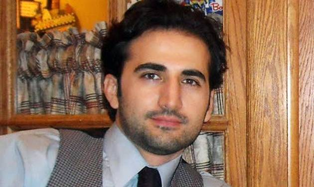 FILE - This undated file photo released by his family via FreeAmir.org shows Amir Hekmati. Hekmati, a former U.S. Marine being held in Iran over the past two years on accusations of spying for the CIA. The former U.S. Marine convicted of criminal charges in Iran after being accused of working for the CIA will appeal for a new trial after already seeing his sentence reduced once, an Iranian news agency reported Sunday, May 25, 2014.(AP Photo/Hekmati family via FreeAmir.org, File)