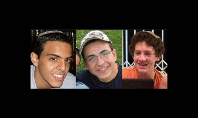 This undated image released by the Israel Defense Forces shows a combination of three photos of Israeli teens Eyal Yifrah, 19, Gilad Shaar, 16, and Naftali Fraenkel, a 16-year-old with dual Israeli-American citizenship, who disappeared while hitchhiking home near the West Bank city of Hebron late at night on June 12, 2014 and were never heard from again. The Israeli military found the bodies of the three missing teenagers on Monday, June 30, 2014, just over two weeks after they were abducted in the West Bank, allegedly by Hamas militants. The grisly discovery culminated a feverish search that led to Israel's largest ground operation in the Palestinian territory in nearly a decade and raised fears of renewed fighting with Hamas.(AP Photo/Israel Defense Forces)