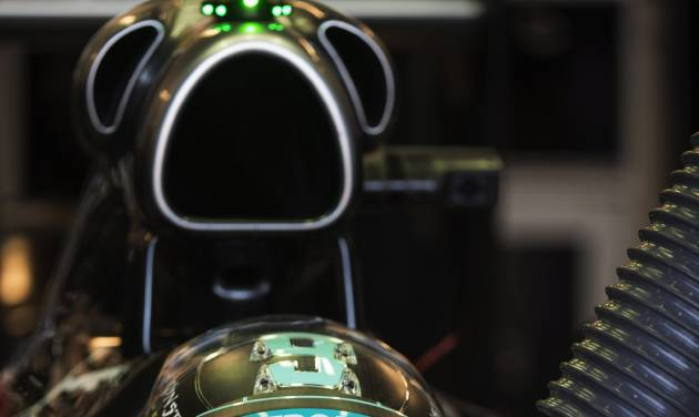 Mercedes driver Nico Rosberg from Germany sits in his car during the third practice session at the Canadian Grand Prix Saturday, June 7, 2014 in Montreal.  (AP Photo/The Canadian Press, Paul Chiasson)