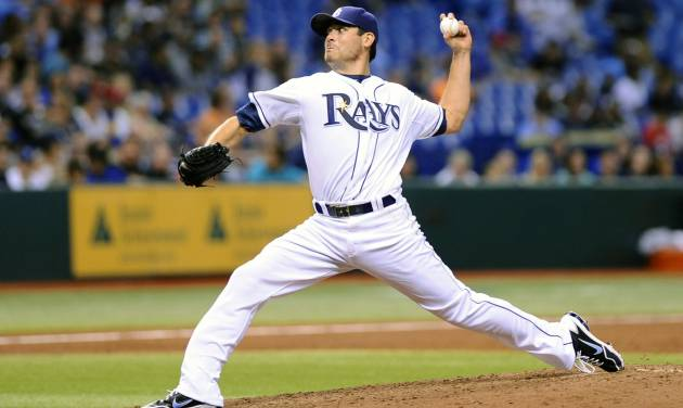 Tampa Bay Rays starting pitcher Matt Moore delivers to the Texas Rangers during the third inning of a baseball game Thursday, Sept. 19, 2013, in St. Petersburg, Fla. (AP Photo/Brian Blanco)